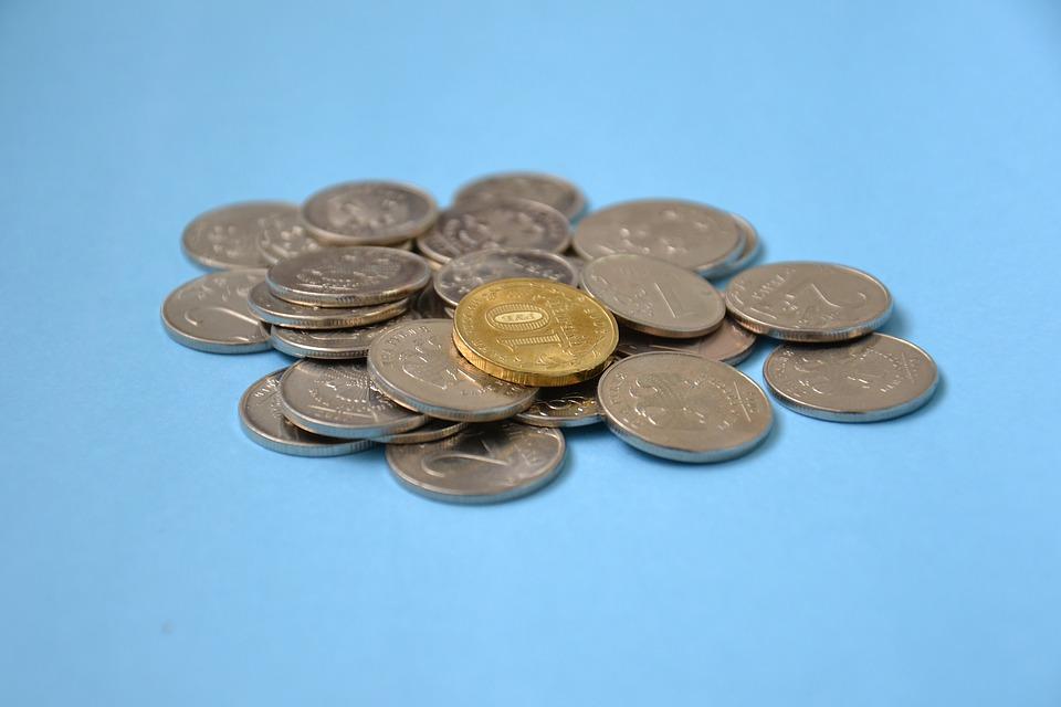 hromádka mincí